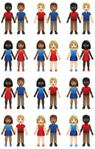 nouveaux emojis couple