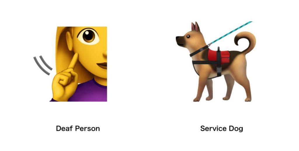 emoji Personne sourde et chien guide