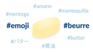 Emoji Beurre - la campagne de la Laiterie Le Gall