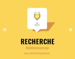 La campagne pour l'emoji Vin Blanc. En français dans le texte.